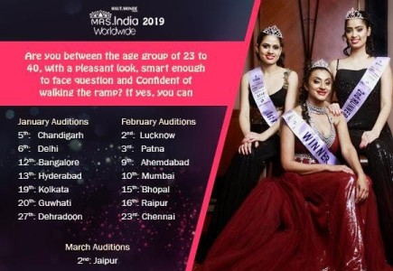 Mrs. India 2019 Beauty Contest Registration Online