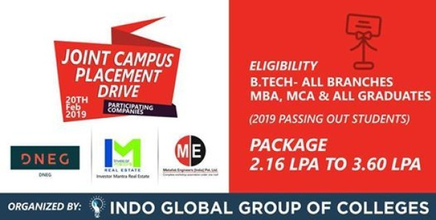 Joint Campus Placement Drive