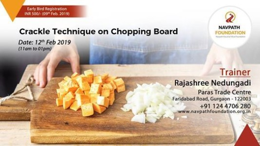 Crackle Technique on Chopping Board