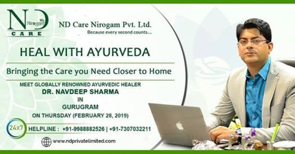 Meet Expert Ayurvedist Dr.Navdeep Sharma in Gurugram