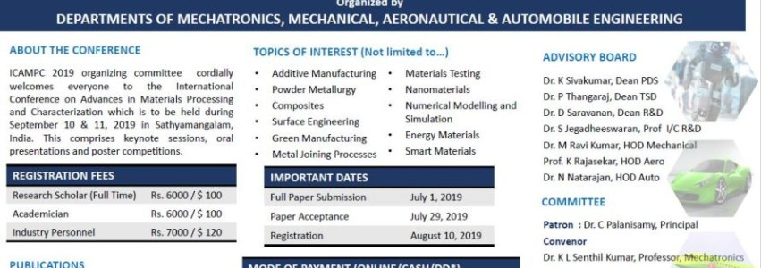 International Conference on Advances in Materials Processing